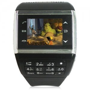 Quad Band Touch Screen Cell Phone Watch - FM + E-Book